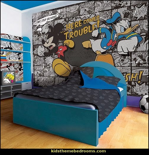 Disney Mickey Mouse and Donald Duck Comic Wallpaper Mural
