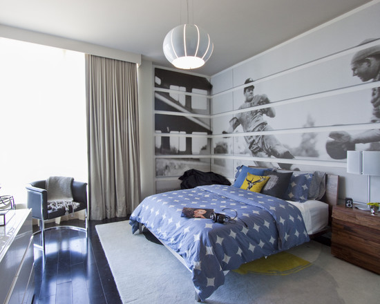 modern-bedroom-design-with-wall-mural-sports-theme-for-2014-kids-room-design