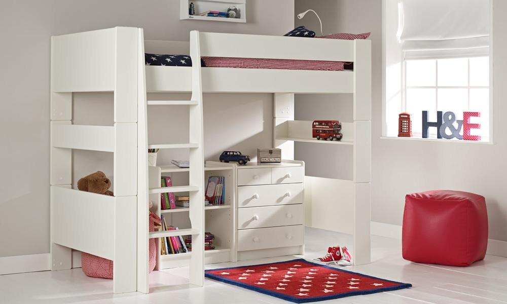 High Sleeper with carpet and storage