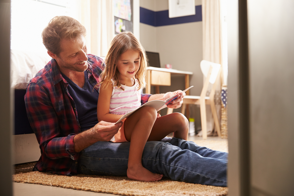 Father Reading with Child