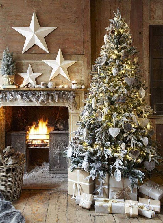 Christmas Tree in a Wooden room