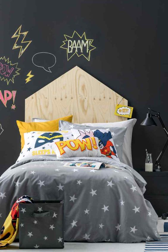 Superhero themed bed