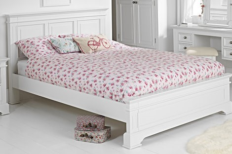 Grace White Double Bed
