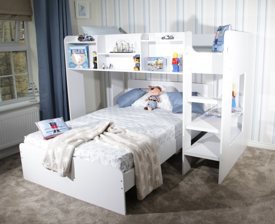 Wizard L Shaped Triple Bunk Bed