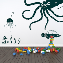 Wall Stickers Under The Sea