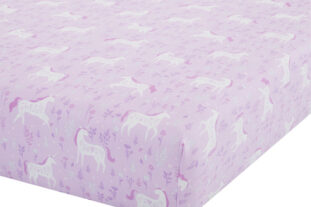 pink unicorn fitted sheet
