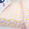 Pink stars fitted sheet