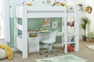 Bloc high sleeper with desk