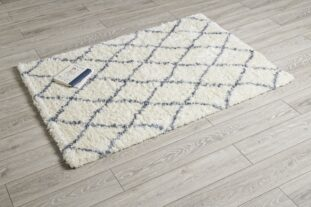 Rocky Cream & Blue Diamond Rug